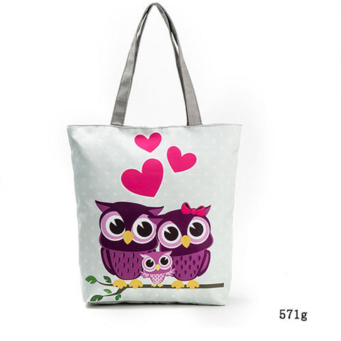 Lovely Owl Printed Women's Casual Bag