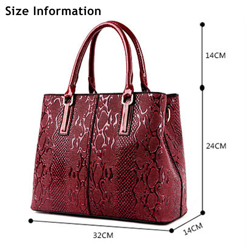 Daisy Alligator Embossed Leather Tote