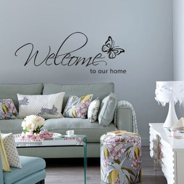 Welcome To Our Home Decorative Sticker