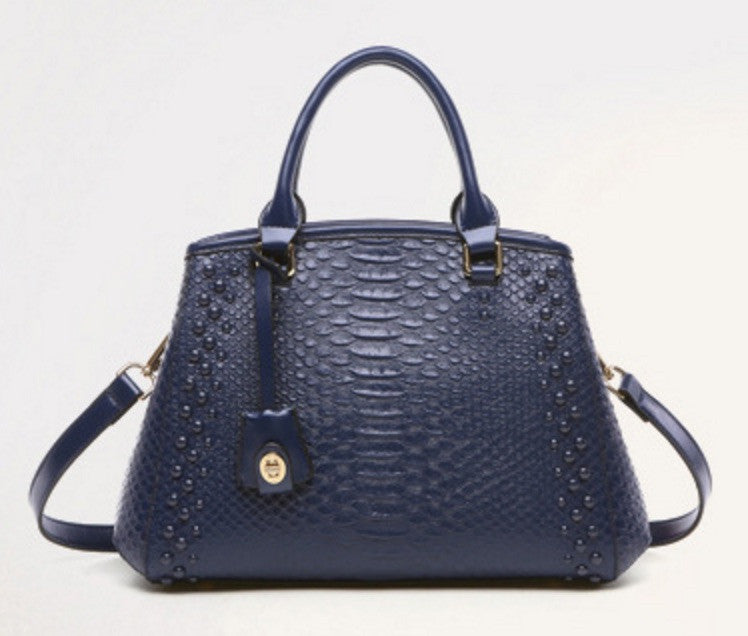 Brenda Genuine Leather  Alligator Handbag