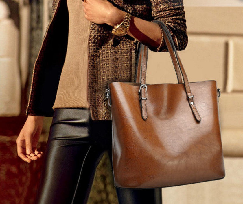 Rose Leather Tote