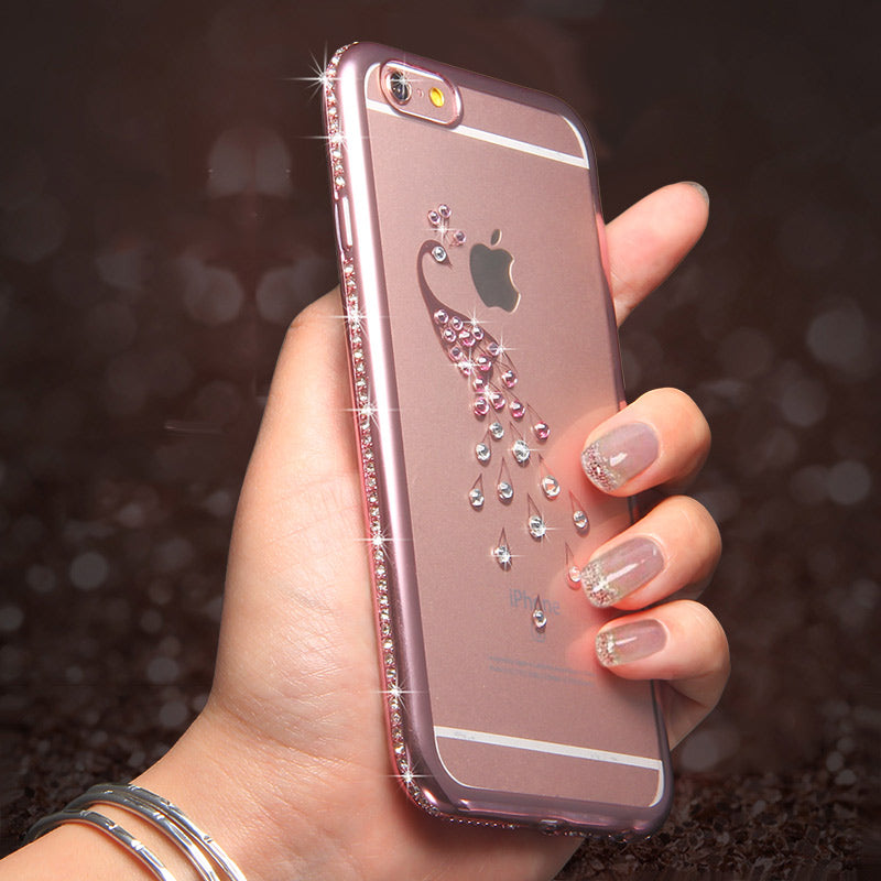 Tommie Rhinestone Silicone Phone Protector