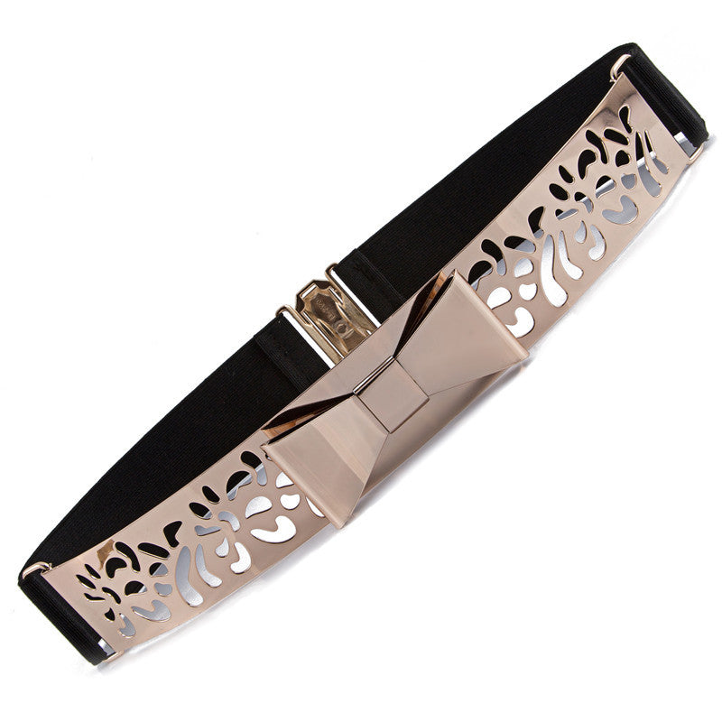 Bowy Metal Hollow Out Waistband Belt