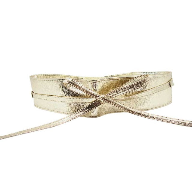 Soffie  Wide Self Tie Wrap Around Belt