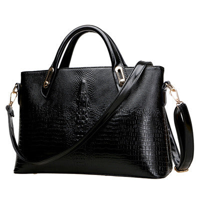 Camila Alligator Print Leather tote