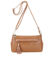 Rebecca Leather Tassel Crossbody