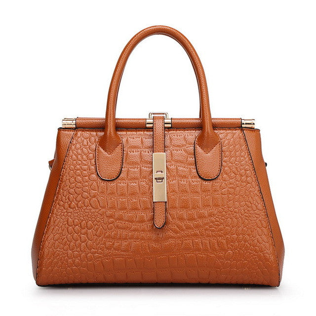 Lily Leather Alligator Print tote