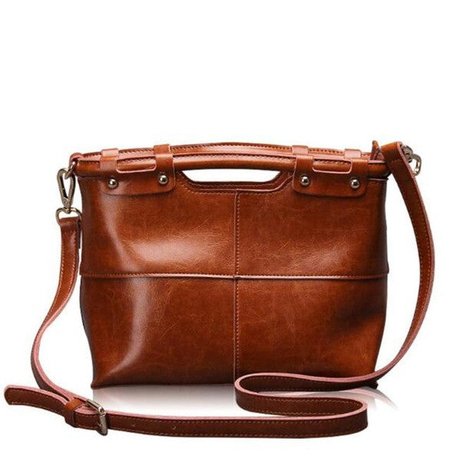 Luna Leather Shoulder Tote