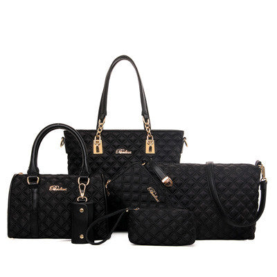 Audrey Leather Handbag 6 PCS/Set