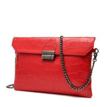 The Croc Textured Clutch Purse