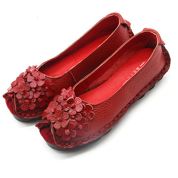 Bella Genuine Leather Flat Shoes