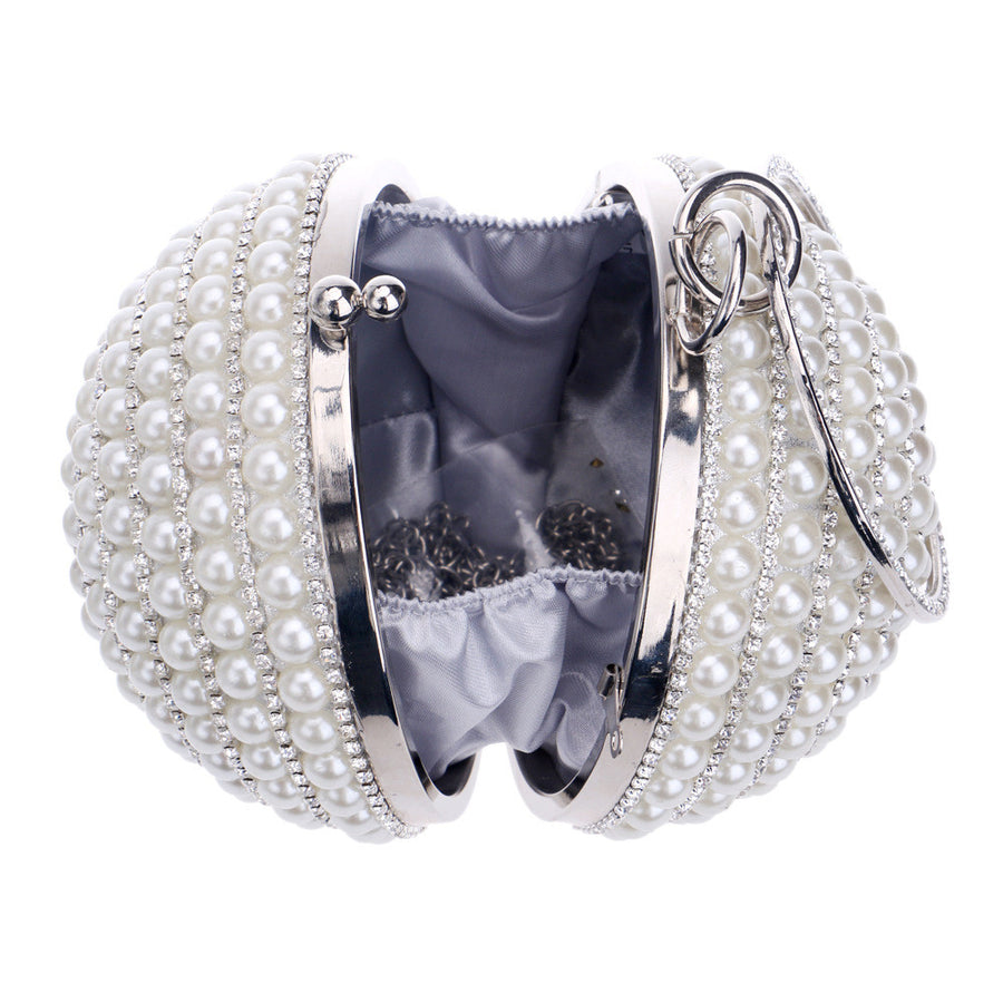 Pearl Beaded Evening Clutch