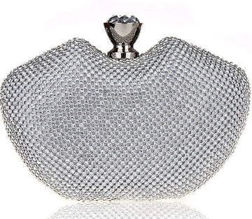 Peach Crystal Evening Clutch
