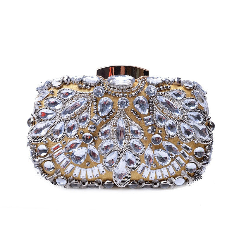 Crystal Beaded Diamond Evening Clutch