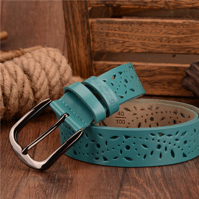 ATHER genuine leather jeans belts