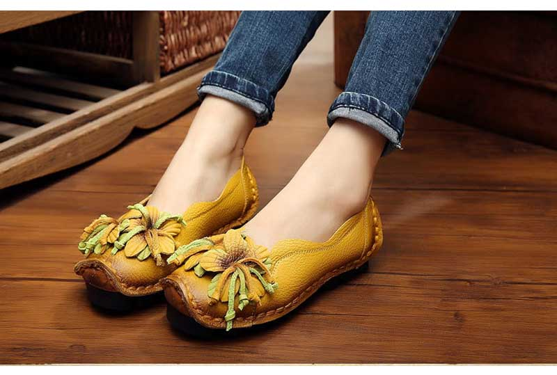 Ballet Flats Handmade Genuine Leather Moccasins