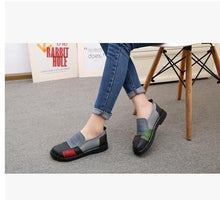 Nao Vintage Style Genuine Leather Hand-Sewn Flat Shoes