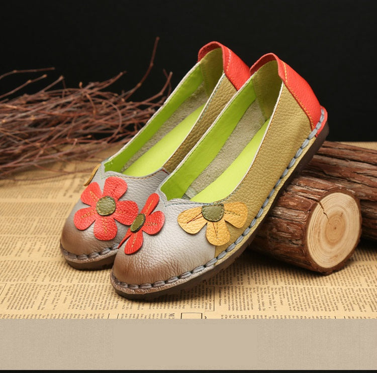 Vikky Genuine Leather Vintage Shoes