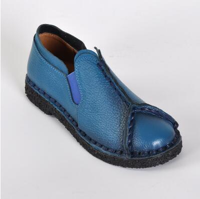 Geddy Retro Handmade Genuine Leather Round Toe Shoes