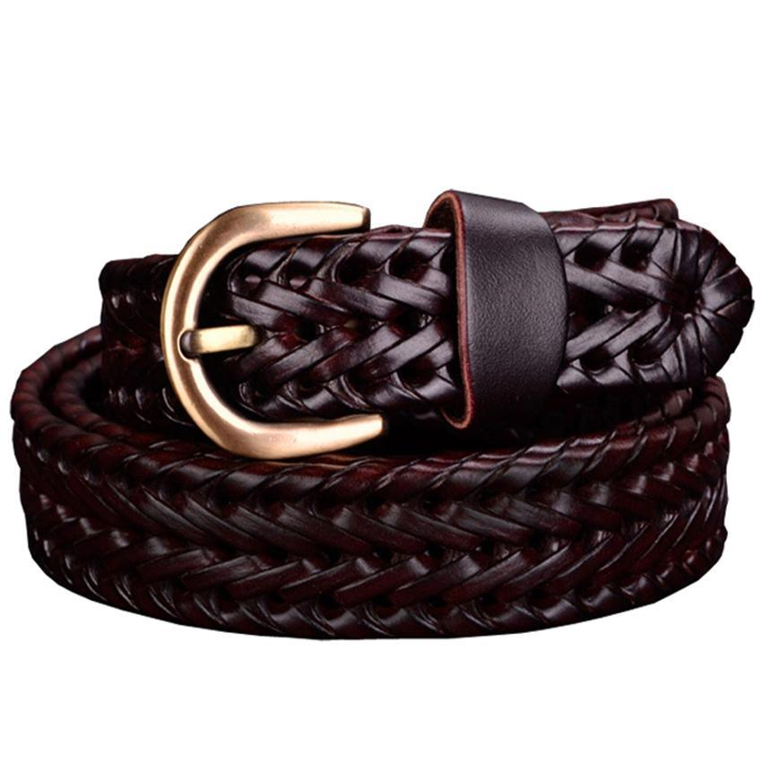 Braided Genuine leather belt