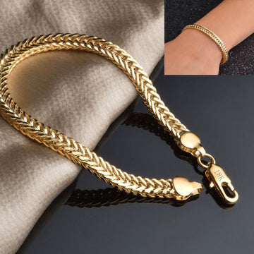 Elegant Mens Plated Gold Chain Hand Bracelets