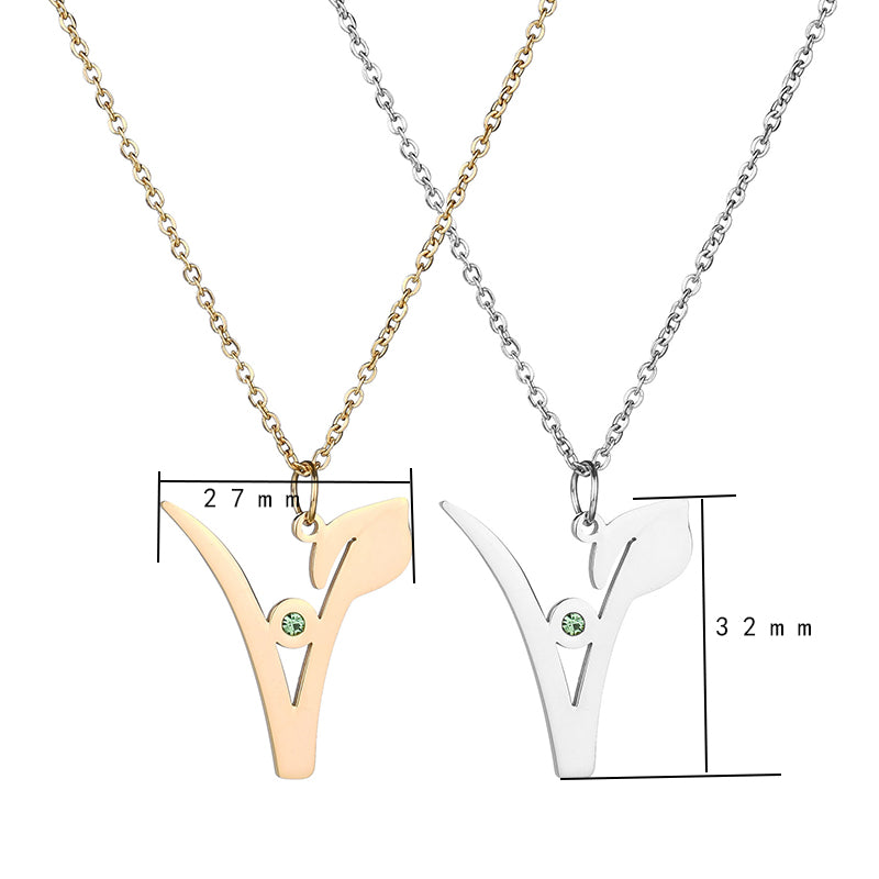 Vegan Symbol Necklace