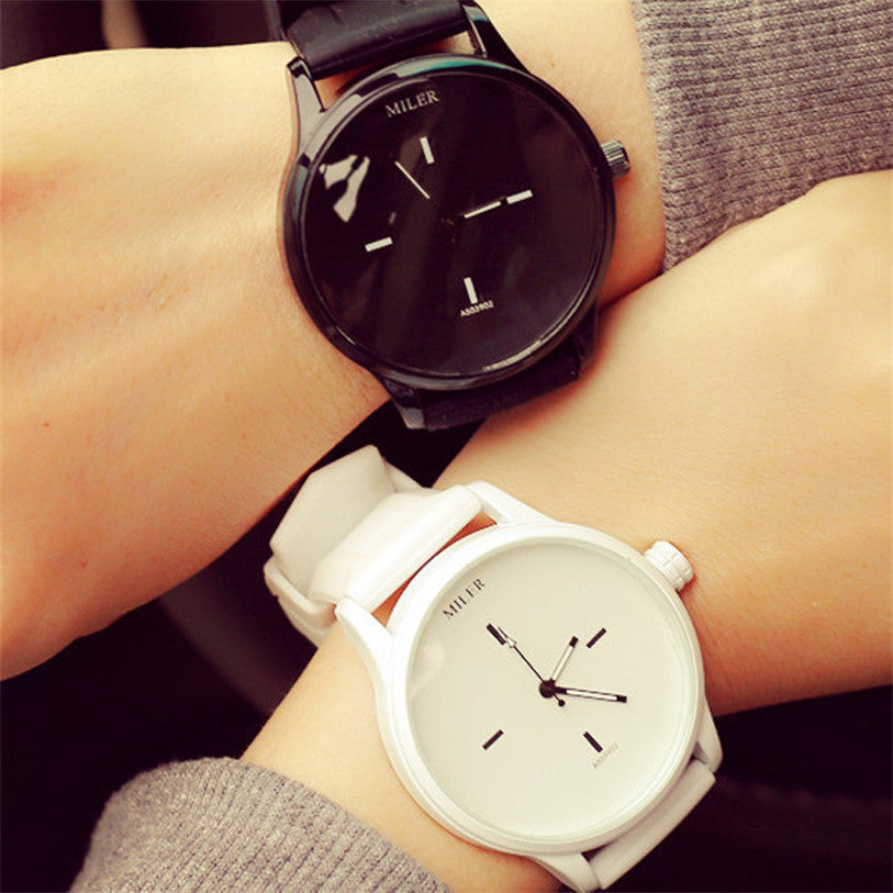 Beautiful His & Hers  Quartz Analog Silicone Band Wrist Watch