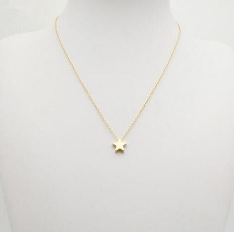 Five-pointed star necklace