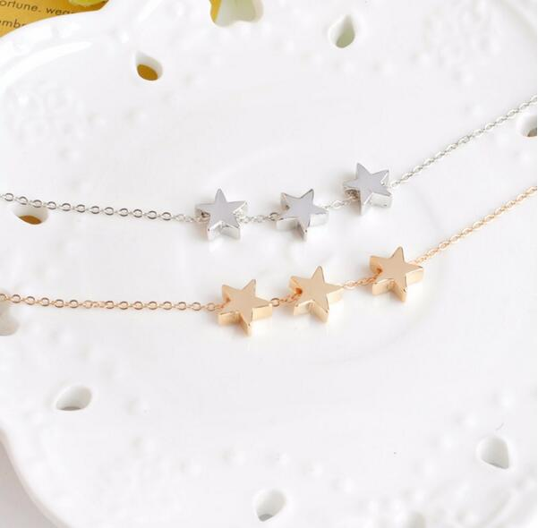 3 Star pendant necklace