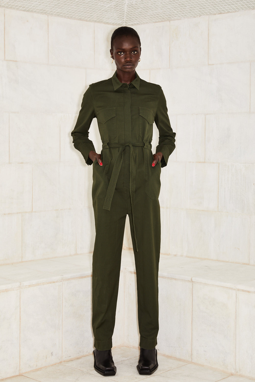 JUMPSUIT JANE- Olive