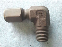 "Parker Hannifin, 1/4"" Male Pipe  x  1/4"" Tube 90 Degrees"