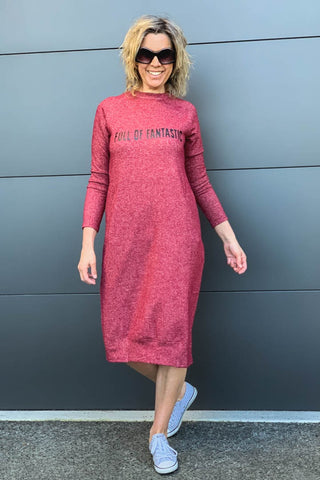 Full Of Fantastic Merlot Dress