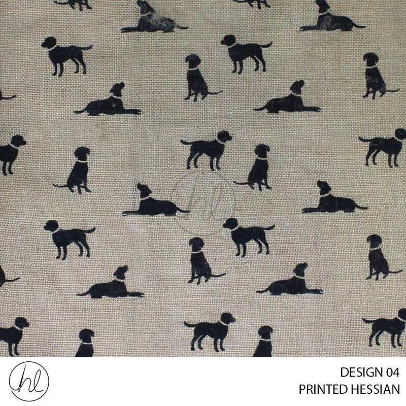 PRINTED HESSIAN (DESIGN 04) (140CM) (PER M)