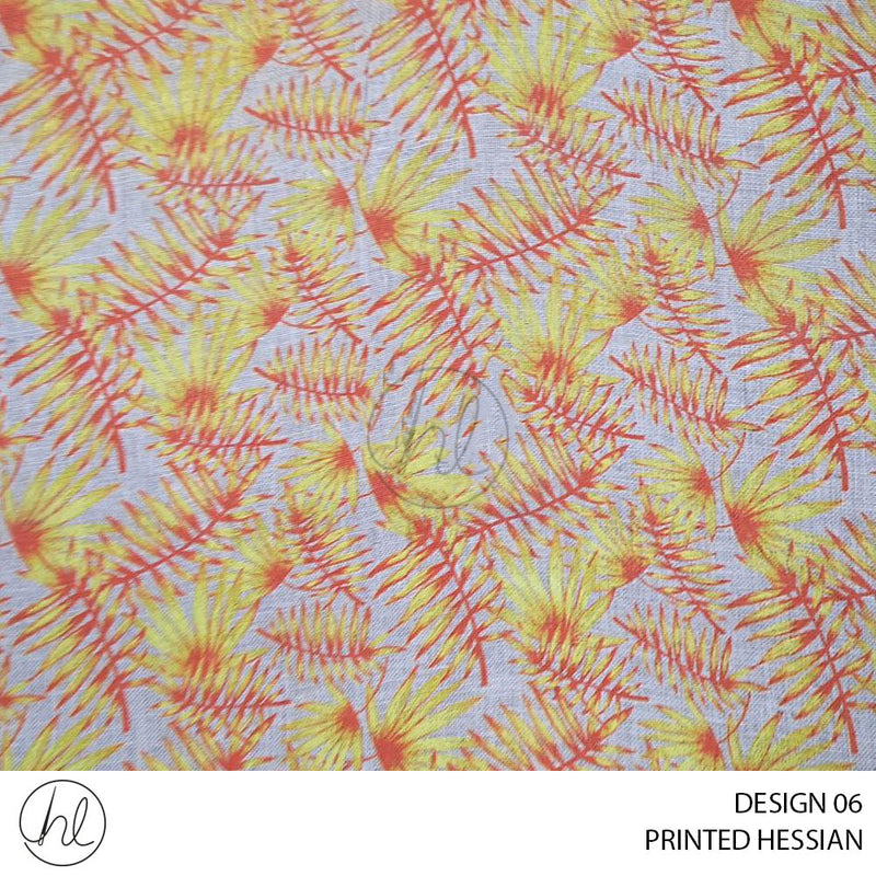 PRINTED HESSIAN (JUNGLE) (DESIGN 06) (140CM) (PER M)