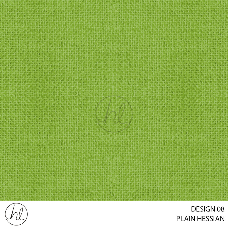 PLAIN HESSIAN (DESIGN 08) (140CM) (PER M)