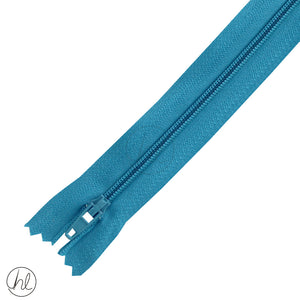 NYLON DRESS ZIPS (15CM-55CM) TEAL BLUE