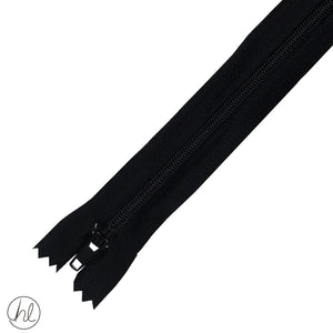 NYLON DRESS ZIPS (15CM-55CM) BLACK