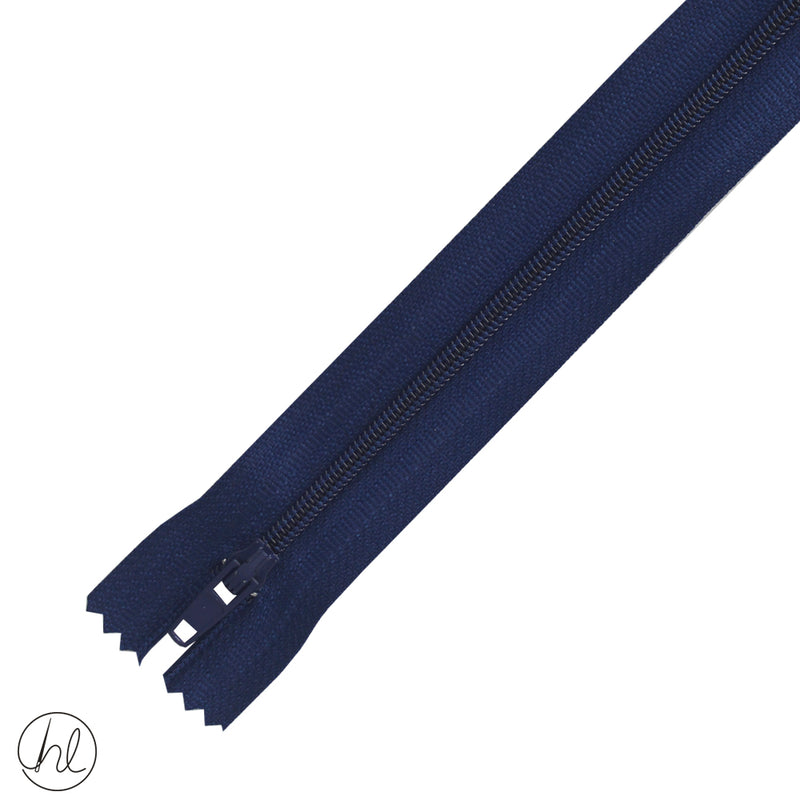 NYLON DRESS ZIPS (15CM-55CM) LIGHT NAVY BLUE