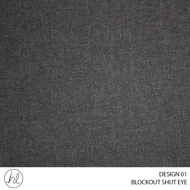 BLOCKOUT SHUT EYE  (DESIGN 01) (280CM) (PER M) CHARCOAL