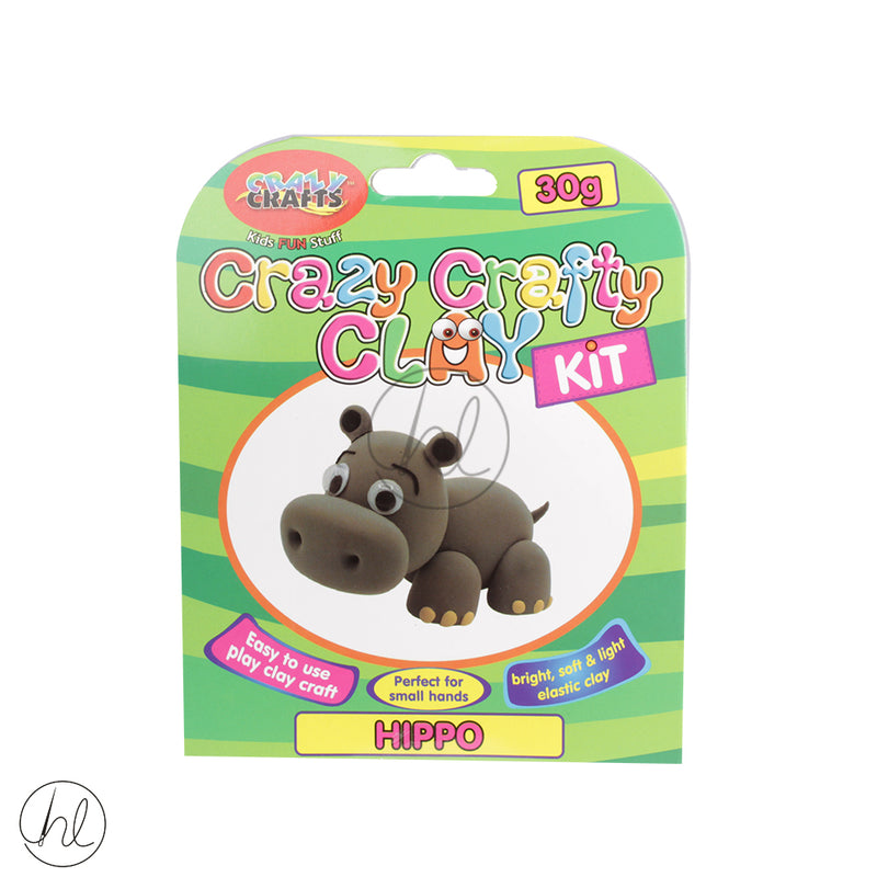 CRAZY CRAFT CLAY KIT HIPPO CK30