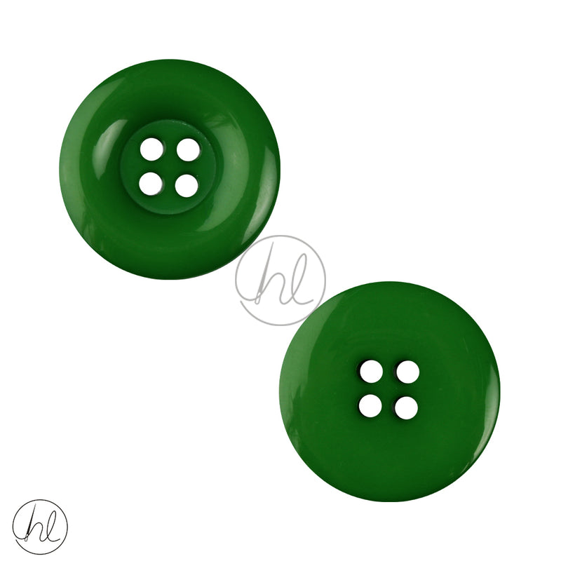 PLAIN SML BUTTON FOREST GREEN 25MM