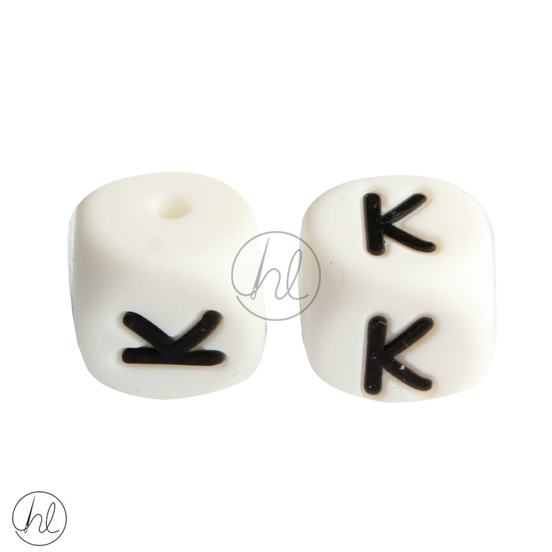SILICONE BEAD LETTERS 2 PER PACK K 882
