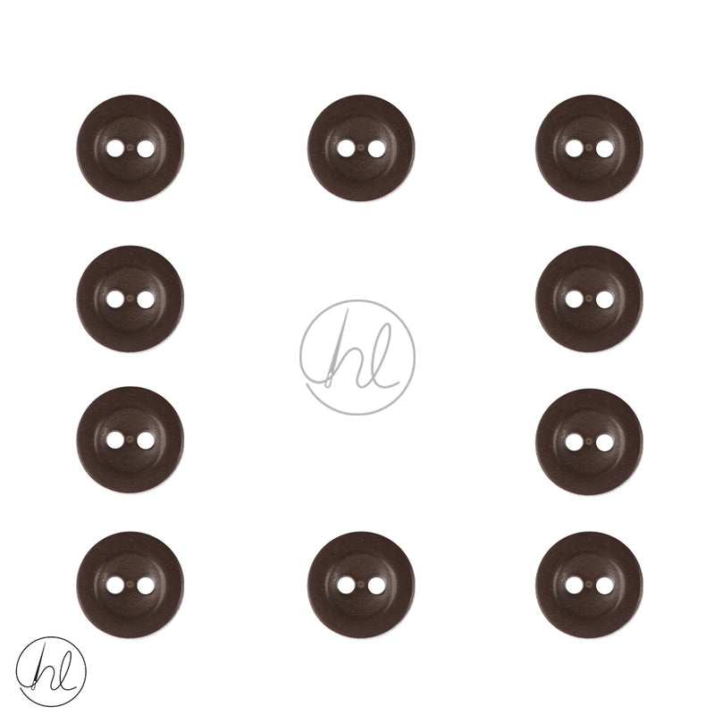 BUTTONS PLAIN BROWN 10 PER PACK