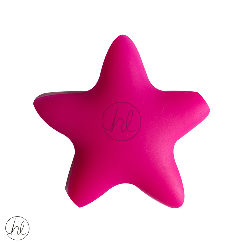 SLICONE BEAD STAR MAGENTA