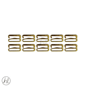 LINGERIE ACCESSORIES RINGS (10 P/PACK) (GOLD) (11MM)