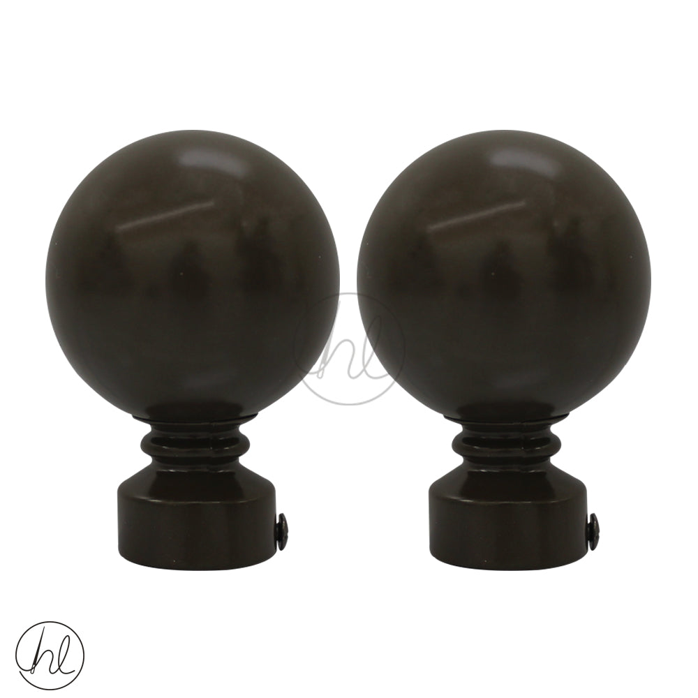 FINIAL BALL METAL (2 PER PACK) (25MM) (BRONZE)