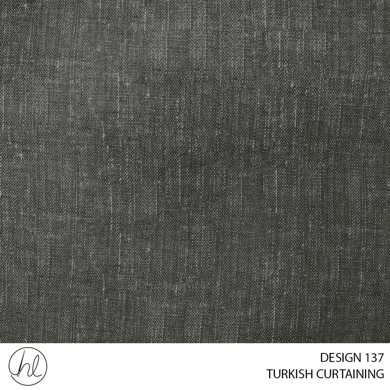 TURKISH CURTAINING MALAWI BLOCKOUT (DESIGN 137) (280CM) (PER M) OLIVE
