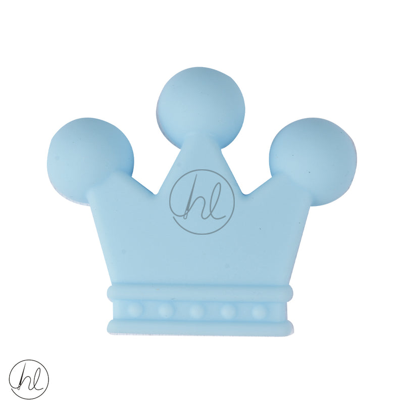 SILICONE BEAD CROWN BLUE EACH