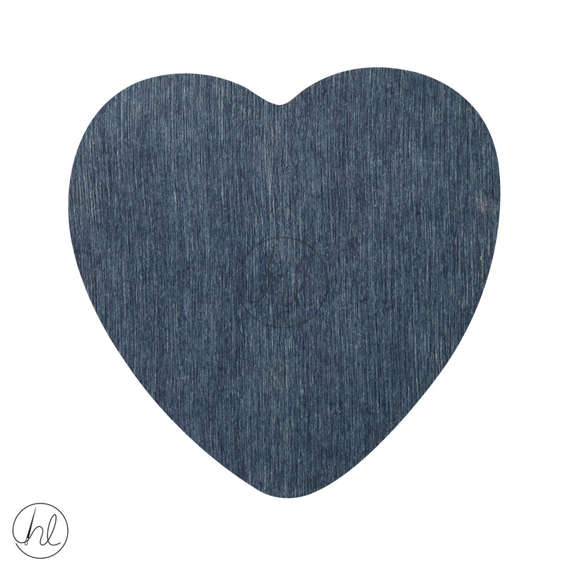 WOODEN BEAD HEART SLATE EACH