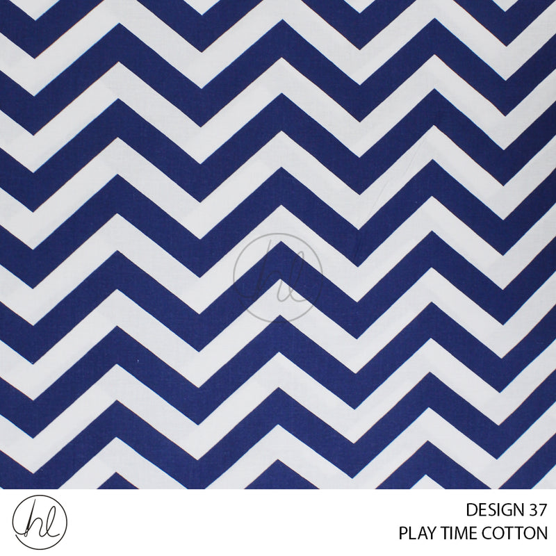 PLAYTME COTTON (DESIGN 37) (150CM) (PER M) NAVY